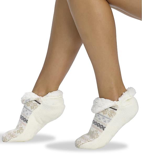 HUE: Fairisle Shearling Slippers