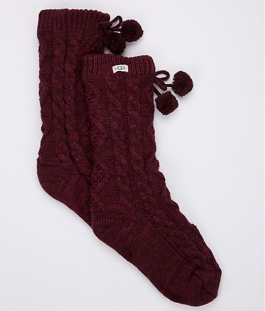 UGG: Pom Pom Fleece Lined Crew Socks