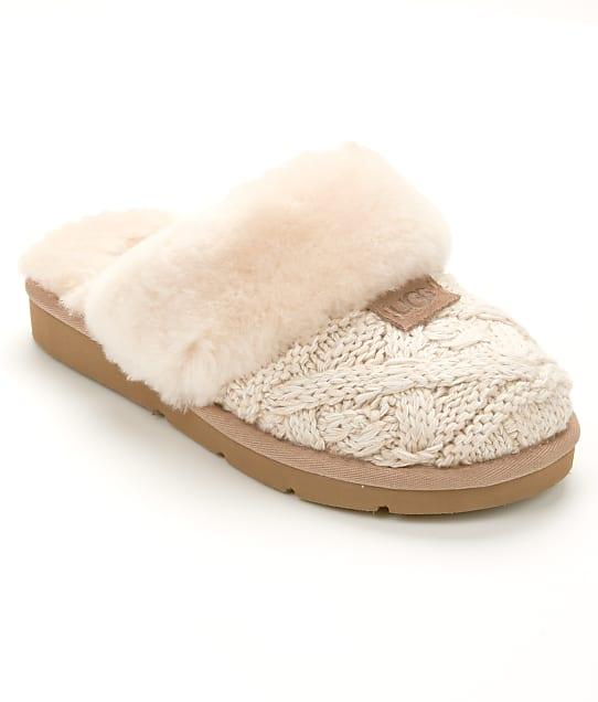 UGG Cozy Cable Knit Slippers Shoes 1019666 at BareNecessities.com