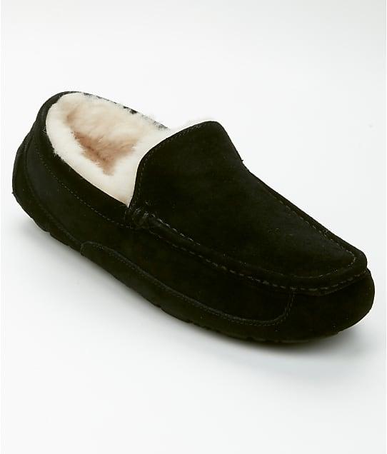UGG Men's Ascot Suede Slippers in Black 1101110