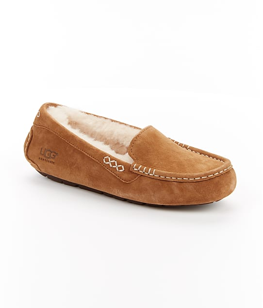 UGG Ansley Slippers in Chestnut(Front Views) 3312