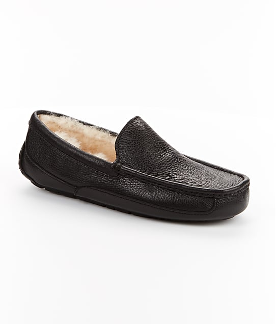 UGG: Men's Ascot Leather Slippers