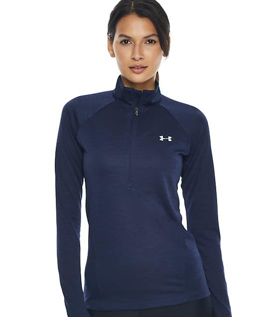 Under Armour Heat Gear Tech 1/2 Zip-Up T-Shirt in Midnight Navy 1320128