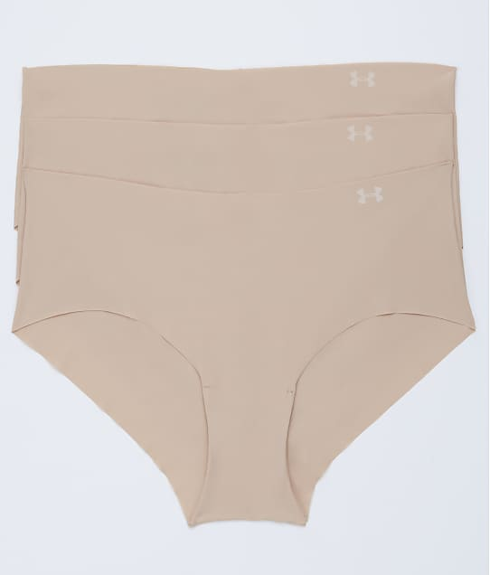 Under Armour Pure Stretch Hipster 3-Pack in Nude 1325616