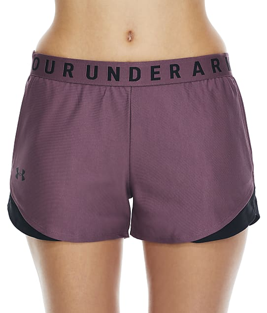 Under Armour Play Up Shorts 3.0 in Ash Plum 1344552
