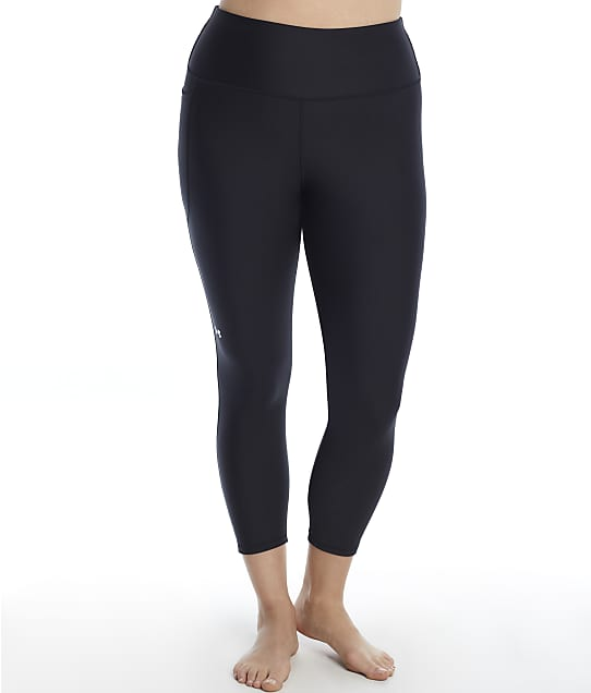 Under Armour Plus Size Hg Armour High-Rise 7/8 Leggings in Black(Front Views) 1362929