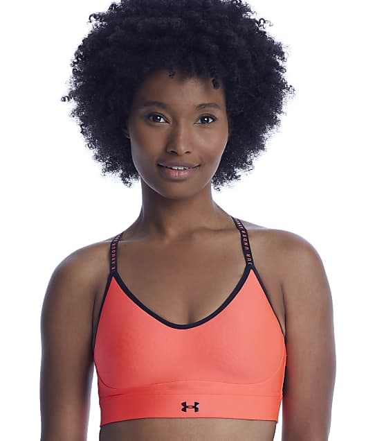 Under Armour Infinity Covered Wire-Free Sports Bra in Beta(Front Views) 1363354