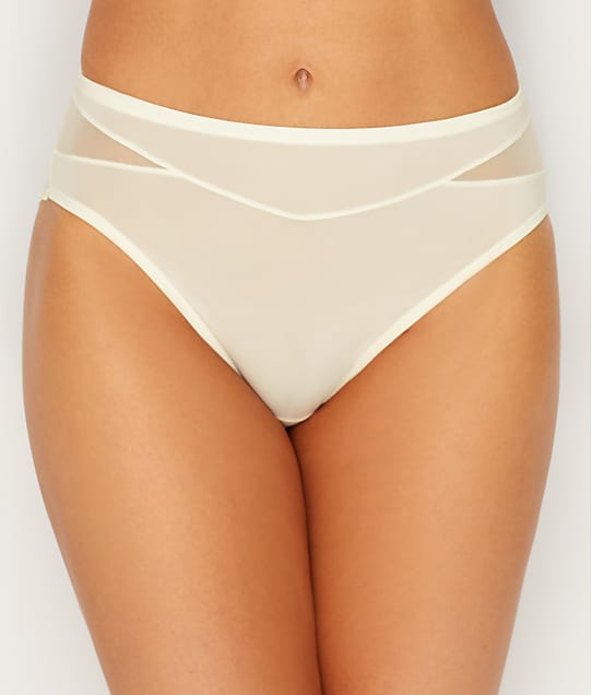 Vanity Fair Breathable Luxe Hi-Cut Brief in Coconut White(Front Views) 13185