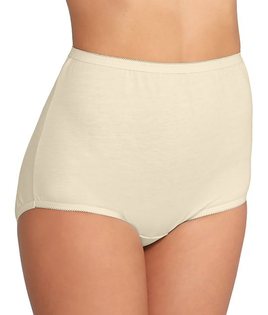 Vanity Fair Tailored Cotton Brief in Candleglow(Front Views) 15318