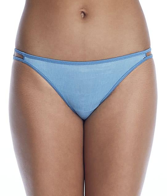 Vanity Fair Illumination String Bikini in Dusty Teal(Front Views) 18108