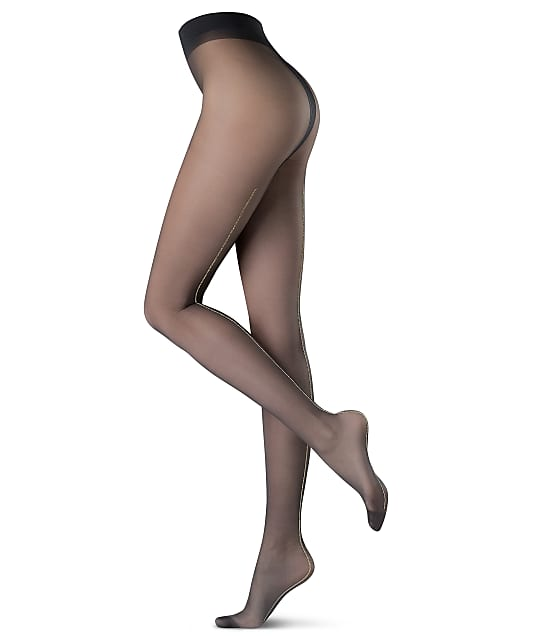 Oroblu Riga Lux Pantyhose in Black / Silver(Front Views) VOBC63275
