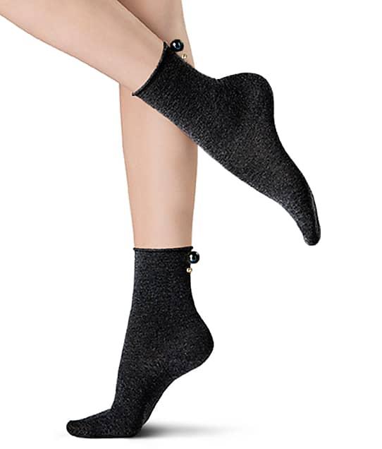Oroblu Bling Anklet Socks in Black VOBFCF2YSP