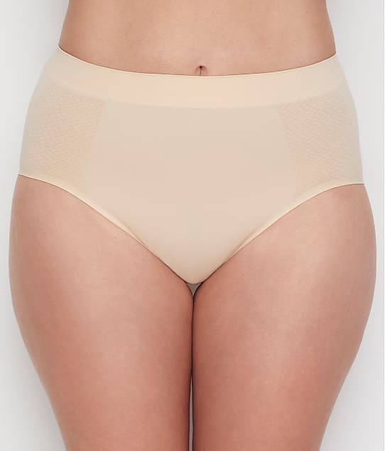 Wacoal Keep Your Cool Shaping Hi-Cut Brief in Sand 808378