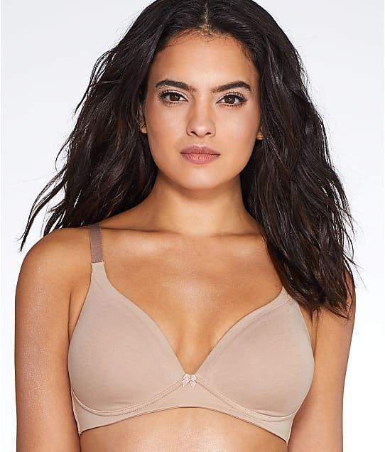 Warner's Invisible Bliss Wire-Free Cotton Bra in Toasted Almond RN0141A