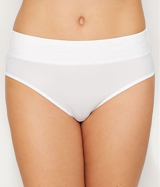 Warner's No Pinching. No Problems. Lace Hipster in White / Rosewater RU7401P