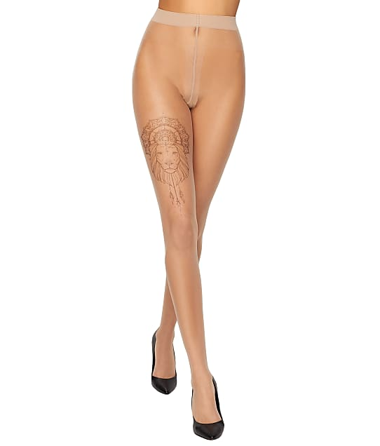 Melina Lion Tattoo Ink Pantyhose by Wolford