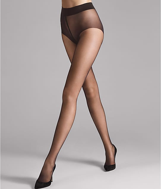 Wolford Pure 10 Denier Pantyhose in Nearly Black 144-97