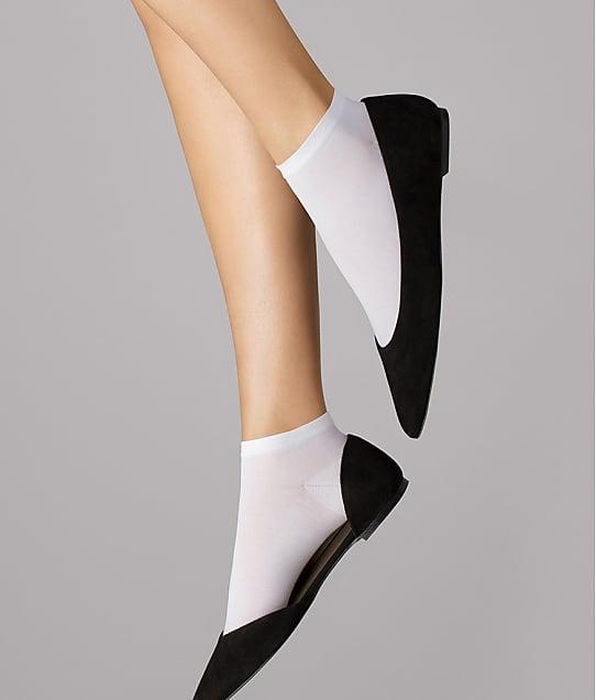 Wolford Cotton Sneaker Socks in White 450-18