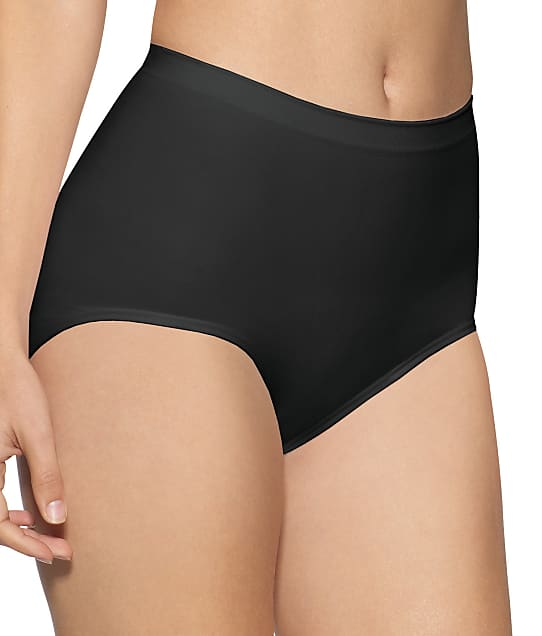 Bali Firm Control Seamless Brief 2-Pack in Black(Full Sets) X204