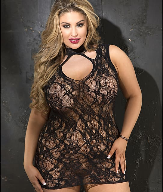 Shirley of Hollywood: Plus Size Stretch Lace Chemise
