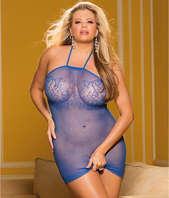 a87ec67395f Shirley of Hollywood Plus Size Micro Net Chemise