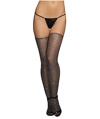 Dreamgirl Metallic Fishnet Thigh Highs