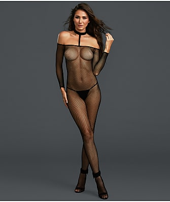 Dreamgirl Choker Fishnet Crotchless Bodystocking