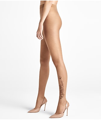 Wolford Carin Flower Tattoo Ink Pantyhose