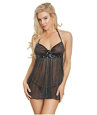 Dreamgirl Shimmer Wire-Free Babydoll Set