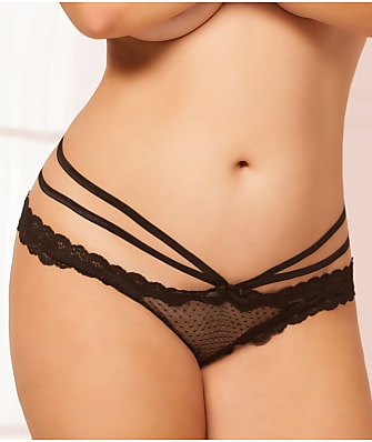 Seven 'til Midnight Plus Size Stappy Crotchless Tanga