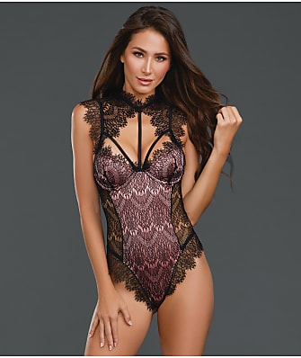 Dreamgirl High Neck Lace Teddy