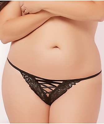 Seven 'til Midnight Plus Size Lace-Up Thong