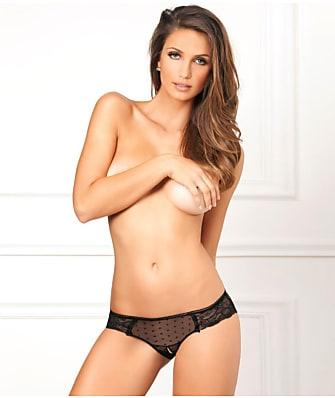 Rene Rofe Crotchless Lace n' Dots Bikini