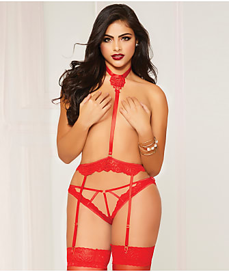 Seven 'til Midnight Lace Harness Panty Set
