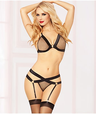 Seven 'til Midnight Fishnet Fever Bra & Panty Set