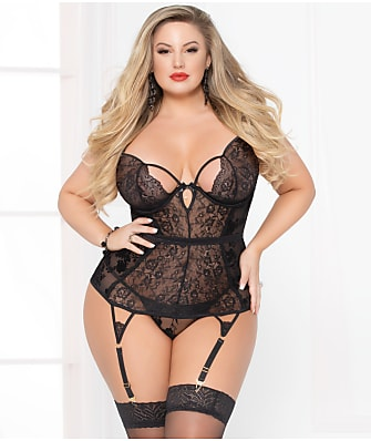 Seven 'til Midnight Plus Size Simply Gorgeous Bustier Set