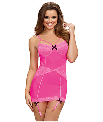 Dreamgirl Lace And Mesh Chemise Set