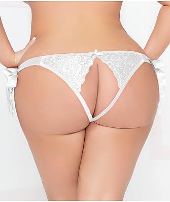 Seven 'til Midnight Plus Size Lace Open-Back Bikini