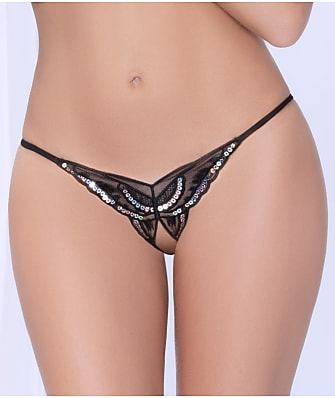 Seven 'til Midnight Crotchless Open-Back Butterfly Tanga