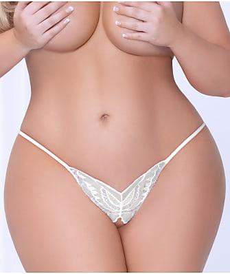 Seven 'til Midnight Plus Size Crotchless Open-Back Butterfly Bikini