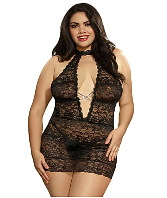 Dreamgirl Plus Size High Neck Chemise