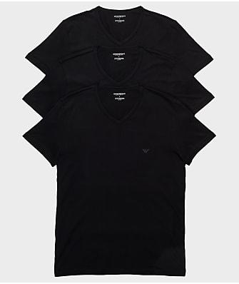 Emporio Armani Pure Cotton V-Neck T-Shirt 3-Pack