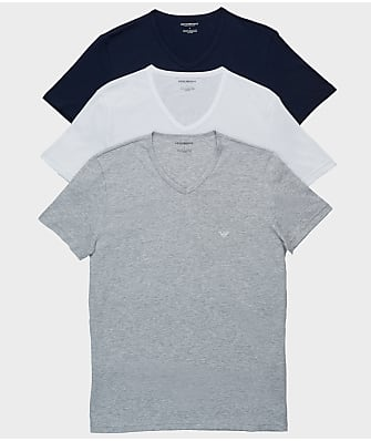 Emporio Armani Pure Cotton V-Neck T-Shirt 3-Pack