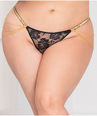 Seven 'til Midnight Plus Size Lace Chain G-String