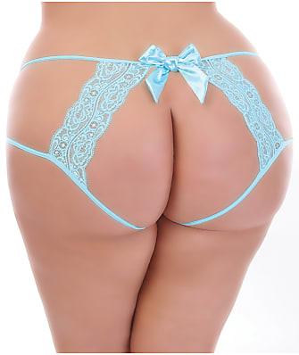 Seven 'til Midnight Plus Size Open Back Bow Crotchless Bikini