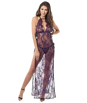 Dreamgirl Sheer Lace Gown Set