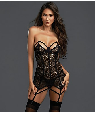 Dreamgirl Caught In Your Web Chemise Set