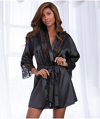 Dreamgirl Satin And Lace Robe