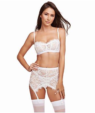 4337e5198a Dreamgirl Shimmering Lace Bra   Garter Set