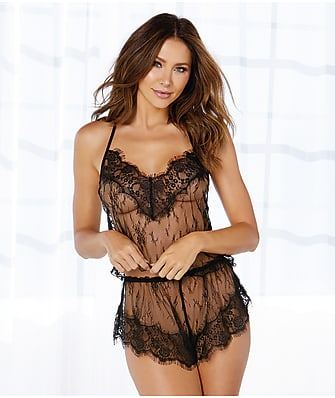 Dreamgirl Delicate Lace Cami & Shorts Set